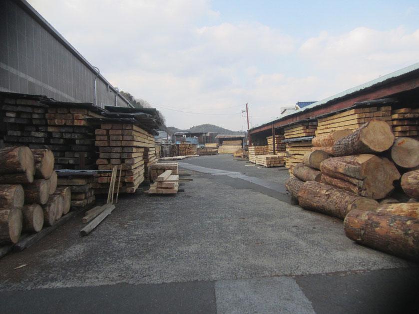 岡山県北の美咲町の製材所