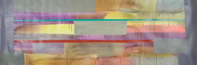 Natur 38, Acryl auf Leinwand, 70x220 cm, 2016
