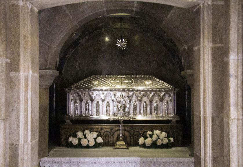 Šv. Jokūbo palaikai Santjago de Kompostelos katedroje / Foto: Kristina Stalnionytė