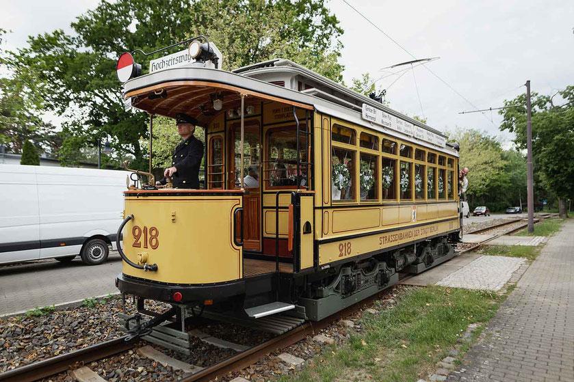 Hochzeit in der Woltersdorfer Straßenbahn