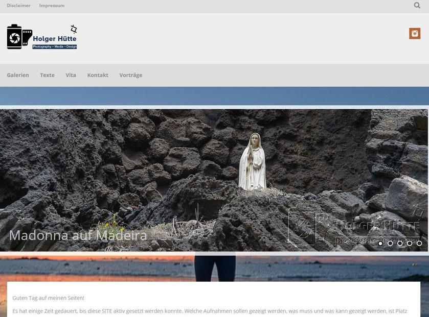 WEBSITE huette-grafie mit zahlreichen Fotografien