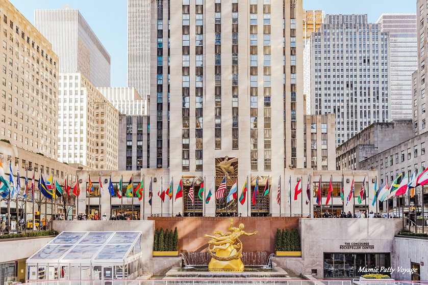 Rockfeller Center, 5ème Avenue, New York, photo non libre de droits