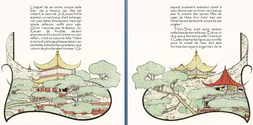 Théophile Gautier. Le Pavillon sur l'eau, conte chinois. amoureuse sur son reflet... n'est-ce-pas une folie ?...