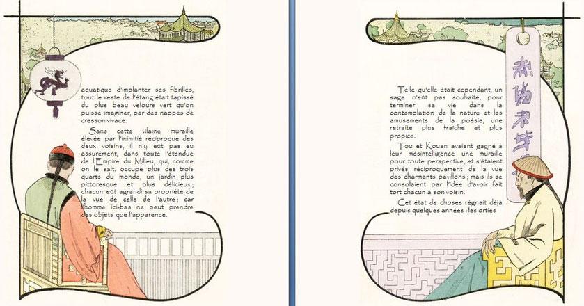 Théophile Gautier. Le Pavillon sur l'eau, conte chinois. la vilaine muraille s'élève...