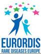 Das Logo von Eurordis, die europäische Organisation für seltene Krankheiten wie die Huntington-Krankheit / Chorea Huntington