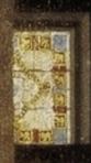 Detail met de engel in de vierpas.