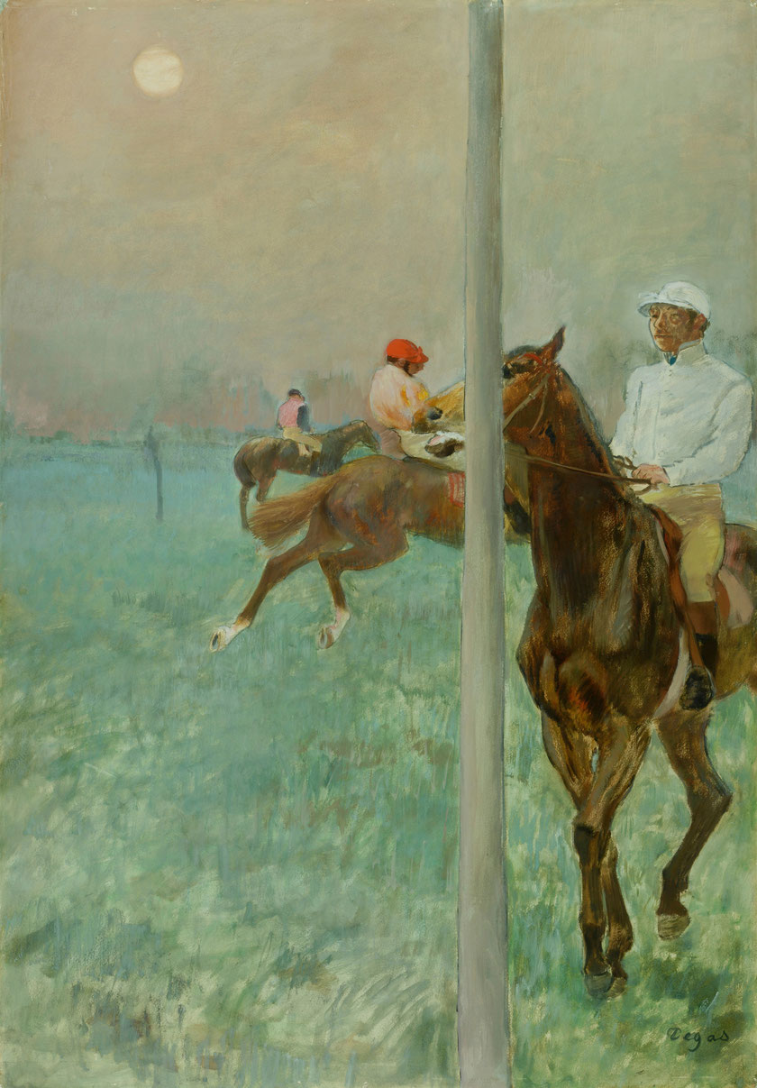 Edgar Degas, Jockeys vor dem Rennen, 1878/79, © The Barber Institute of Fine Arts, University of Birmingham