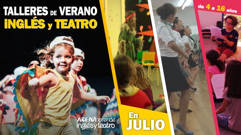 Talleres de Verano - ARENAaprende Inglés y Teatro