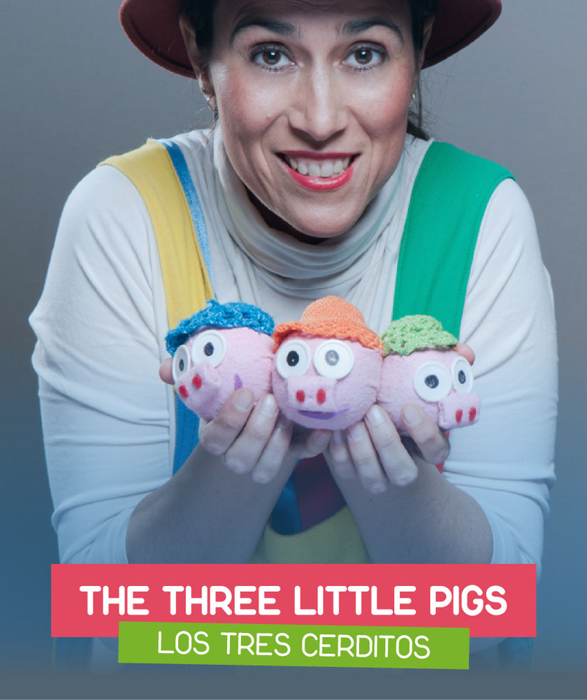 The three little pigs (Los tres cerditos) interpreted by Eva G. Mataix