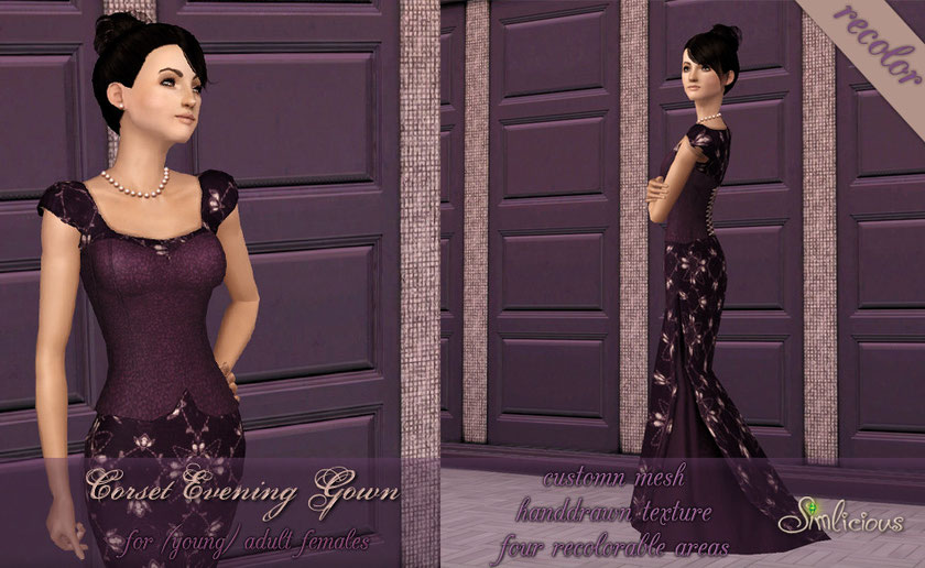 Corset Evening Gown recolor
