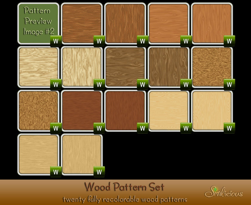 wood pattern set image 2