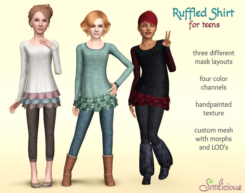 Ruffled Shirt for Teens