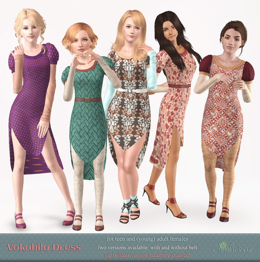 Vokuhila Dress for ts3