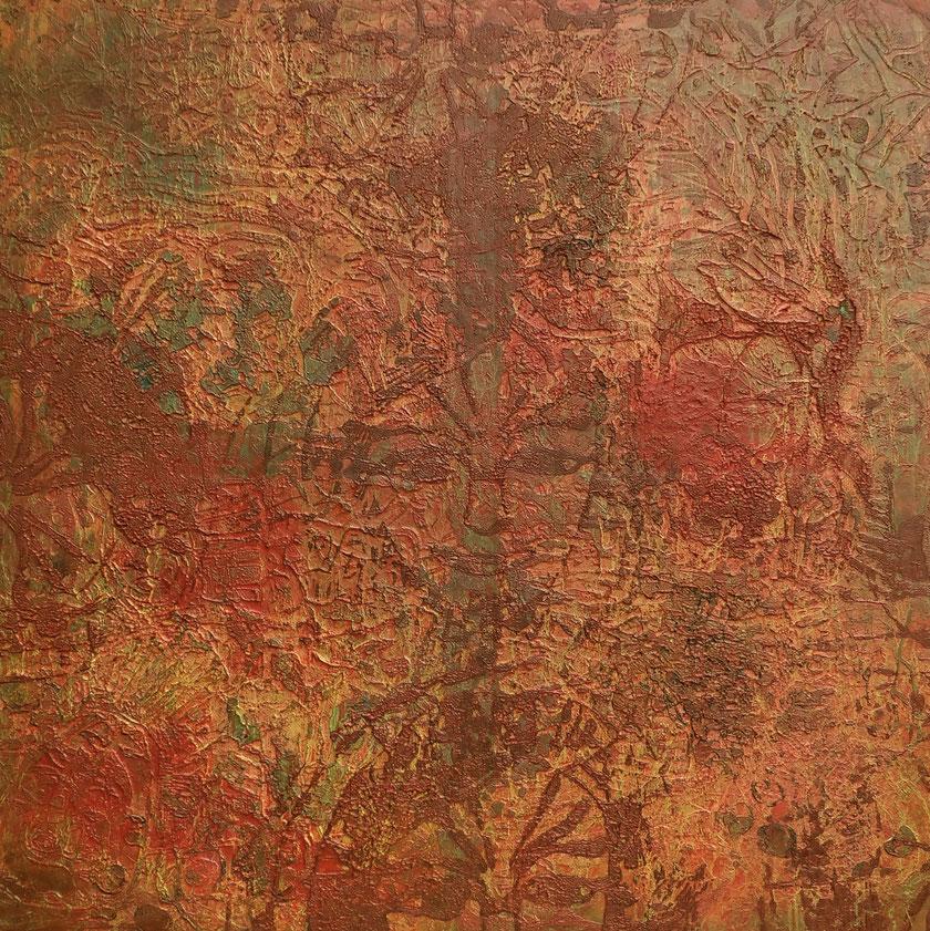 """""""Ich sehe was, was Du nicht siehts, Öl auf Leinwand, 100 x 100 cm, 2013"""