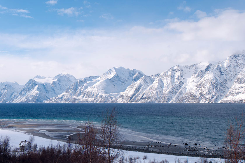View from Uløya to the Lyngen Alps