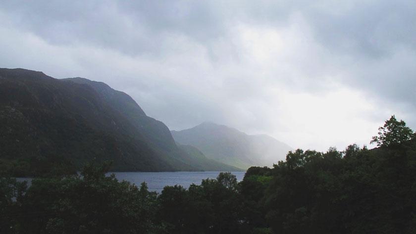 bigousteppes écosse highlands montagne lac