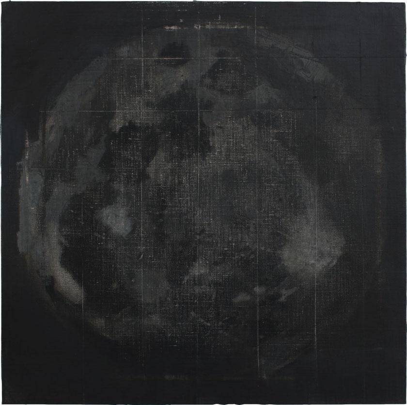 Selene. Oil on linen. 40 x 40 cm. 2017