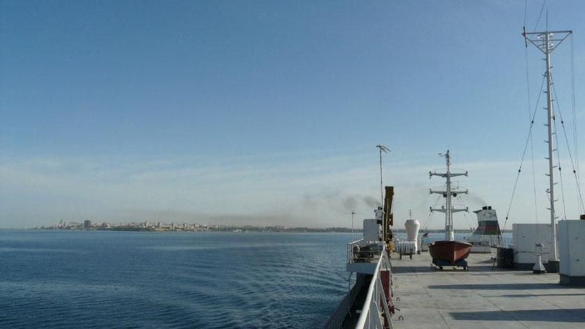 Le ferry quitte enfin Aktau ! Dans quelques heures nous serons dans le caucase
