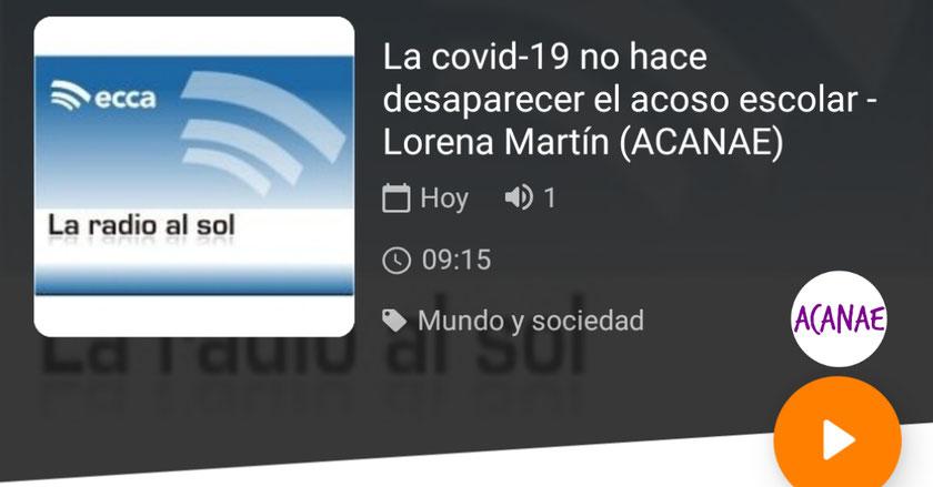 La Covid-19 no hace desaparecer el acoso escolar - Lorena Martín, presidenta de ACANAE