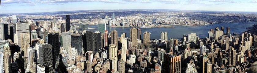 Der Blick vom Empire State Building