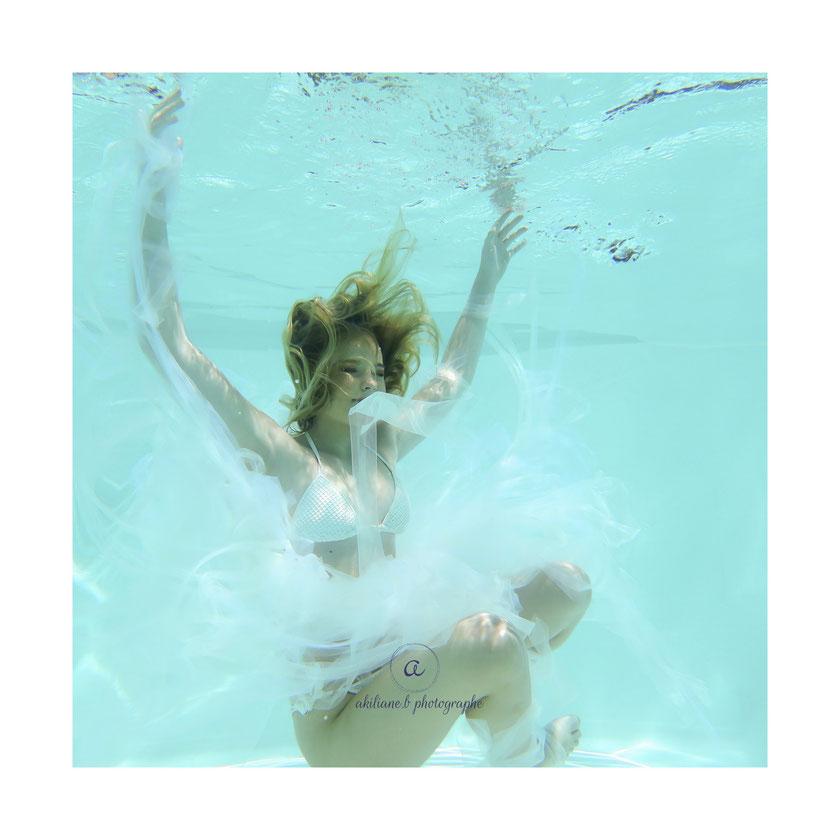 séance photo dans l'eau