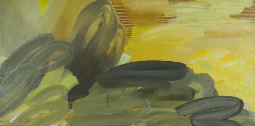 spacelab 3, Öl auf Leinwand, 75x150 cm