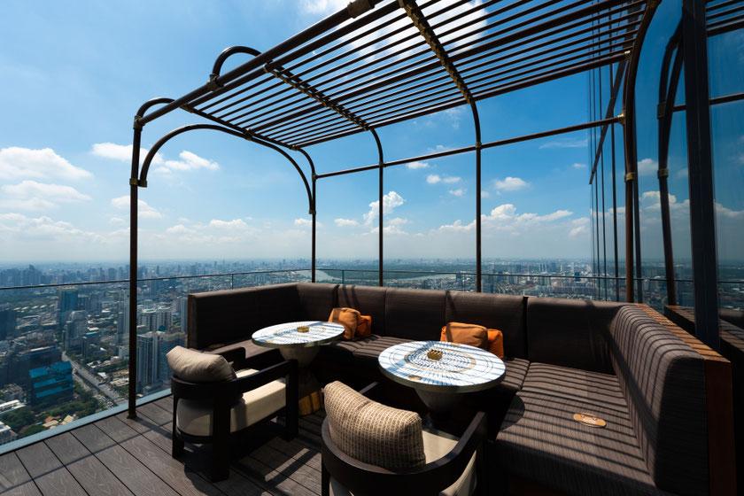 Naujasis Siamas su 314 m. aukščio Mahanakhon dangoraižiu Bankokas