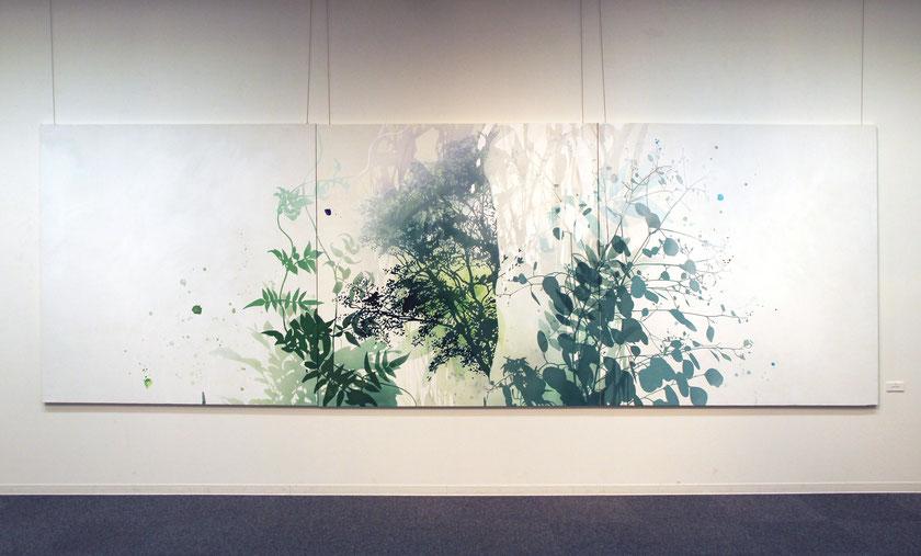 アクリル絵画 余白のある絵 植物画