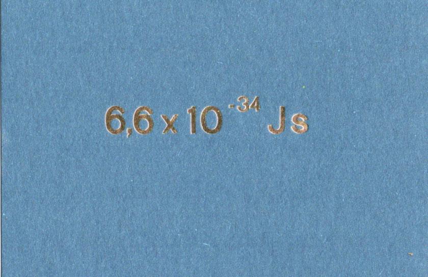 Quantensprung blau C6 4 Euro