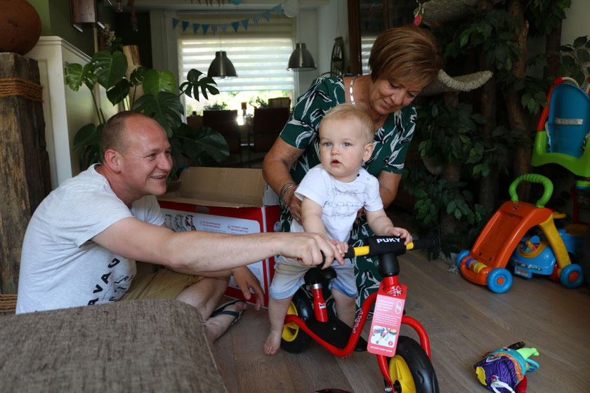 Puky fietsje gekregen van oma