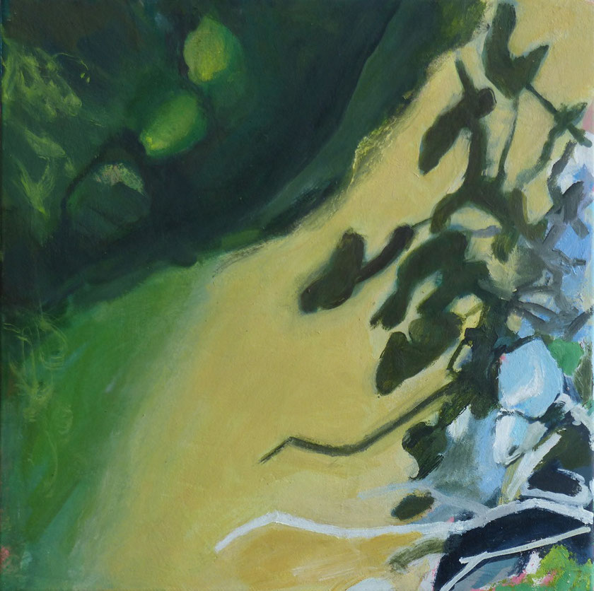 Blätter 2014 30 x 30 cm Öl / Leinwand