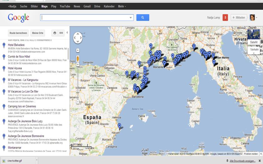 Routenplanung Frühjahr 2013