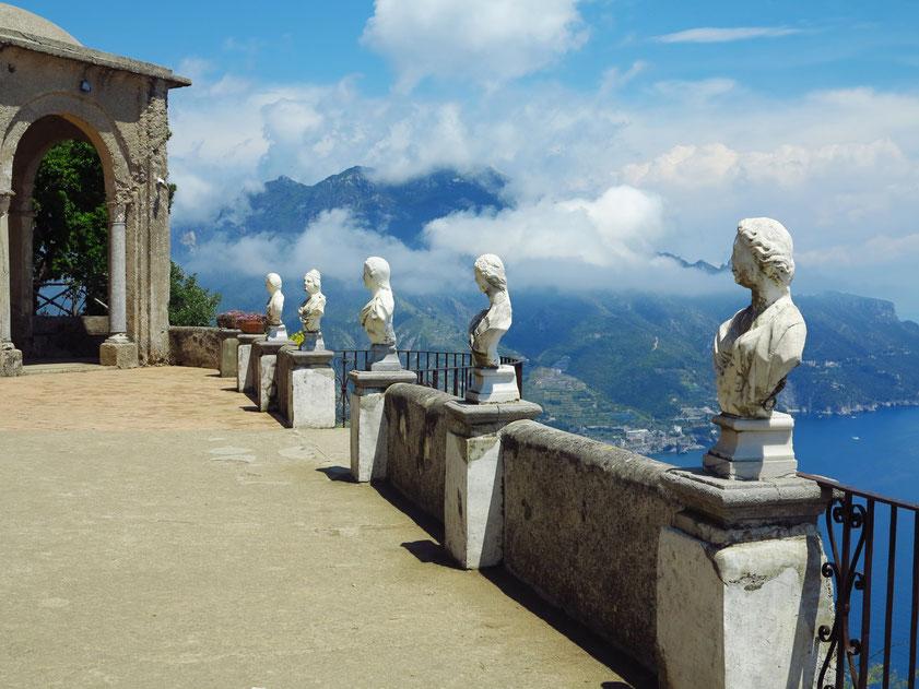 Villa Cimbrone mit der Terrazza dell'Infinito (Terrasse der Unendlichkeit)