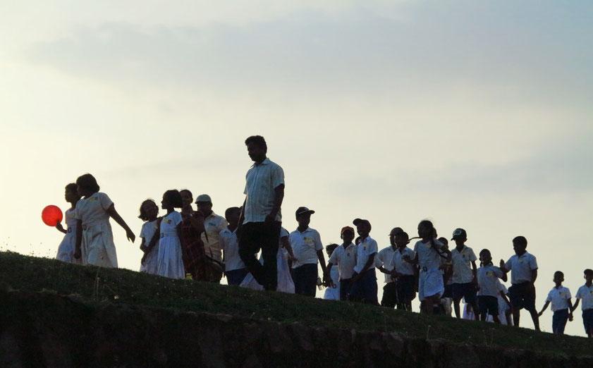 Abends auf der Mauer des Galle Fort
