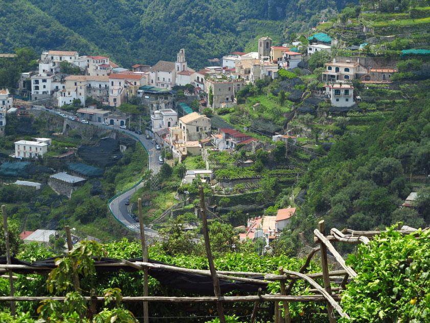 Ortschaft Scala westlich von Ravello