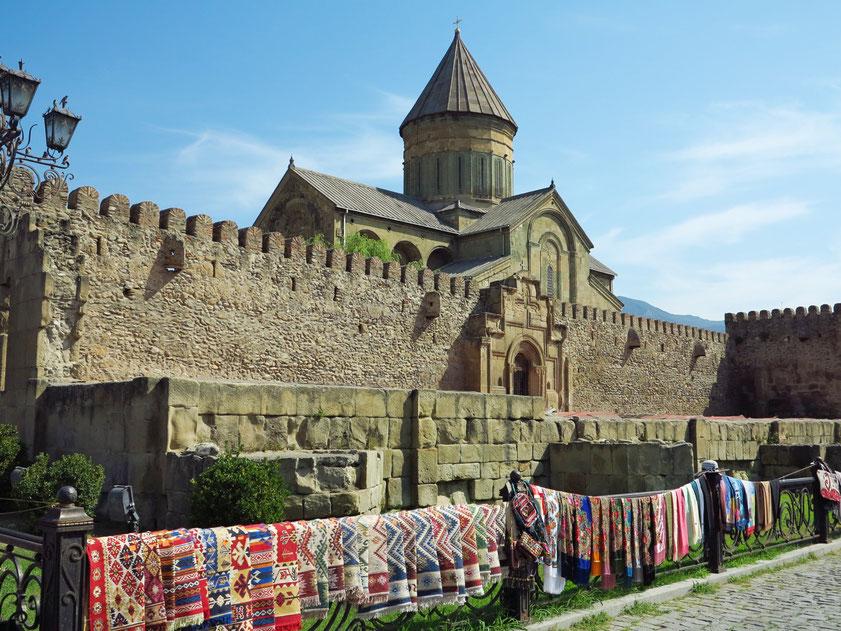 Außenmauer der Swetizchoweli-Kathedrale