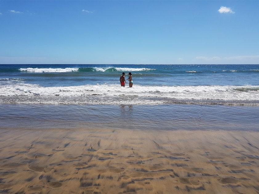 An der Playa del Inglés