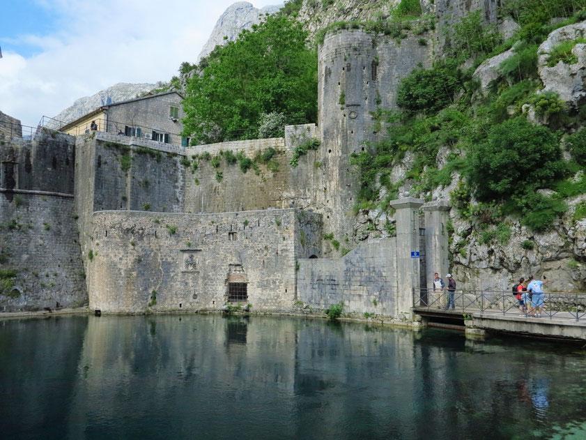 Kotor. Gurdić Bastion am südlichen Eingang zur Altstadt, 1470