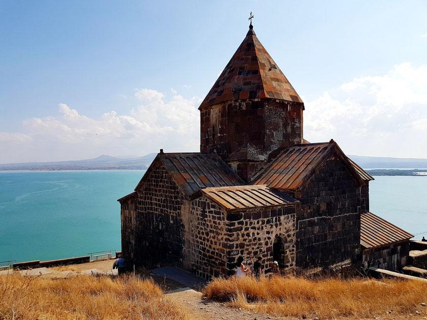 Historisches Kloster Sewanawank über dem Sewansee