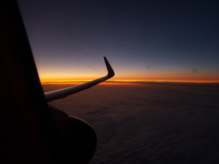 Sonnenuntergang über Frankreich