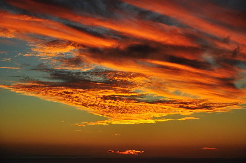 Der Abendhimmel über Lanzarote am 24.11.2010