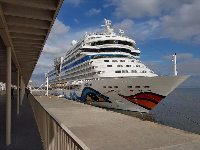 AIDAmar vor der Abreise nach Cartagena