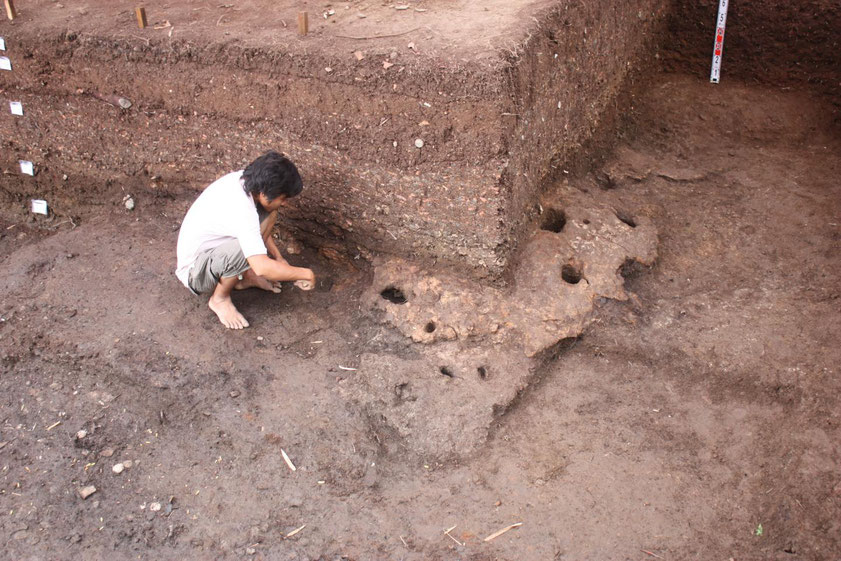 Vietnam stone tool archaeology excavation