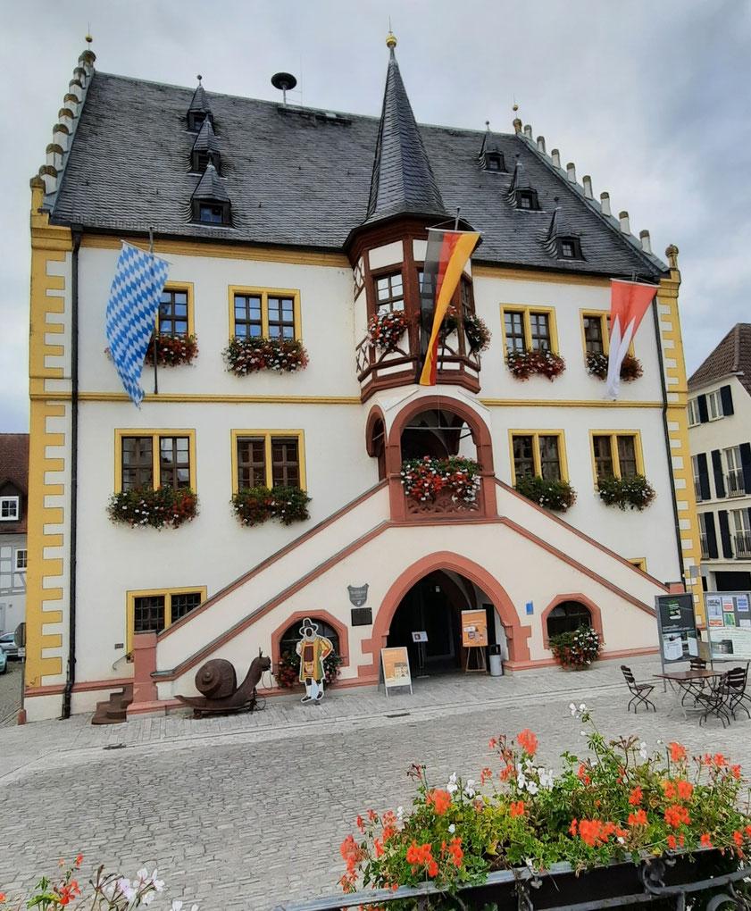 Malerisches Rathaus von Volkach