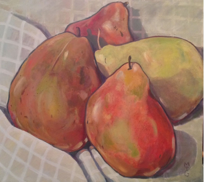 Pear Quartet  36 x 40   $850