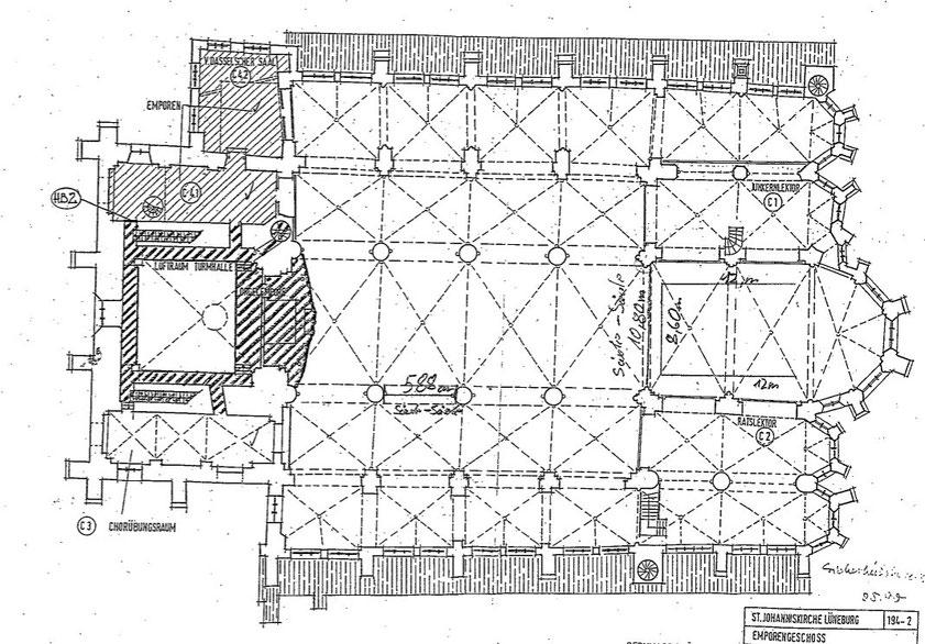 Grundriss (Archiv St. Johannis, Lizenz: frei)