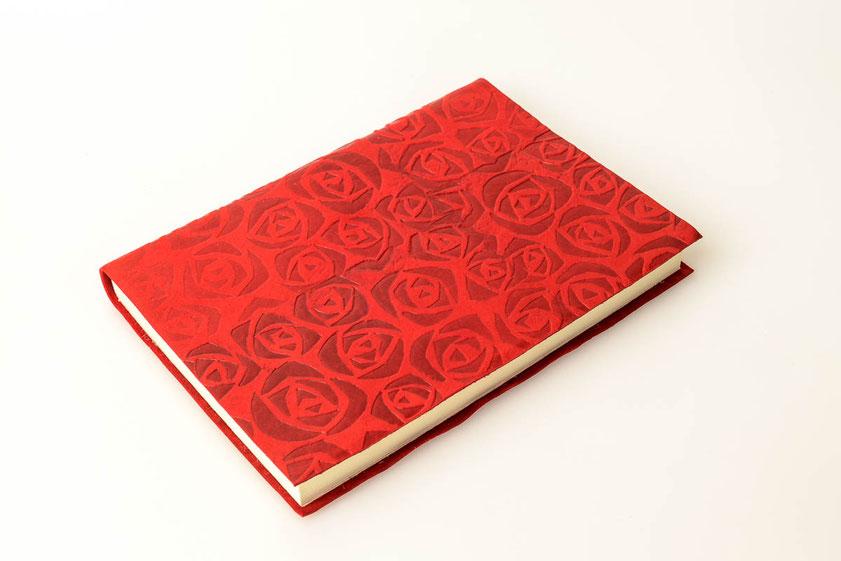 Schreibbuch Rosenstempel