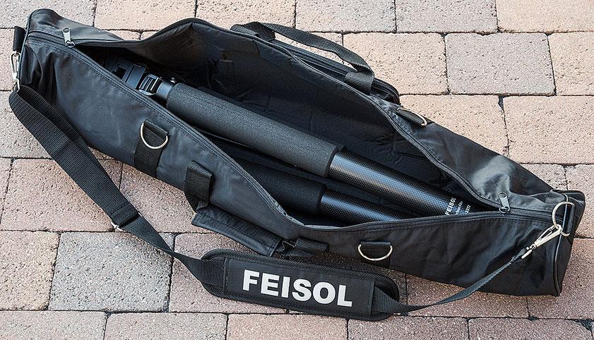 Praxistest: Carbon Stativ FEISOL Elite CT-3372 M2 Rapid tripod in der Tragetasche, Foto: bonnescape
