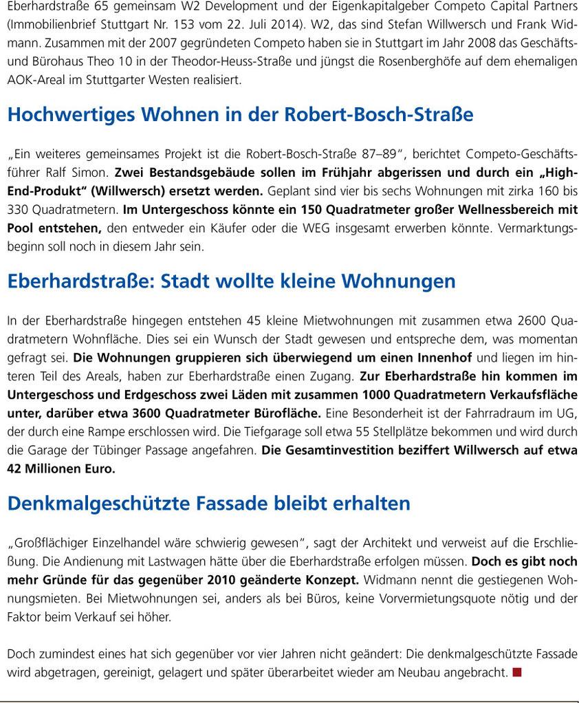 Immobilienbrief Stuttgart / 04.11.2014