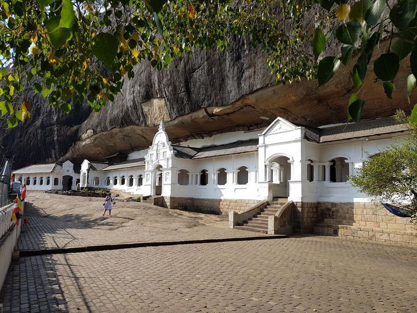 Die Höhlentempeln von Dambulla, seit 1991 UNESCO-Welterbe